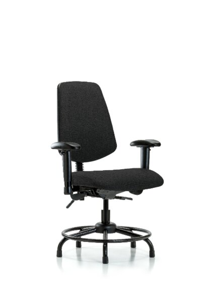 Taliyah Round Tube Base Desk Height Ergonomic Office Chair by Symple Stuff
