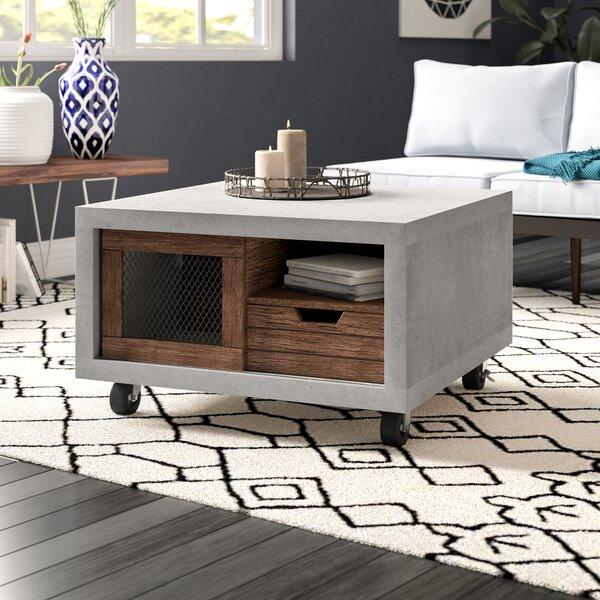 Desantiago Wheel Coffee Table With Storage By Brayden Studio