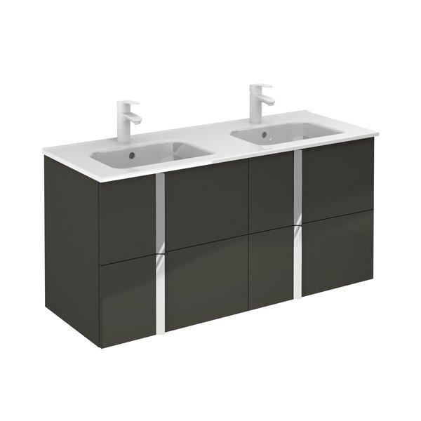 Miguel 48 Double Bathroom Vanity Set (Set of 3)
