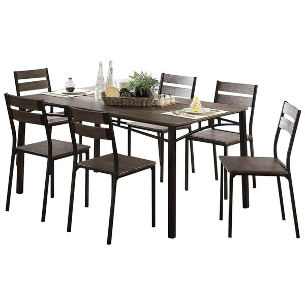 Brockway Wooden 7 Piece Counter Height Dining Table Set by Union Rustic
