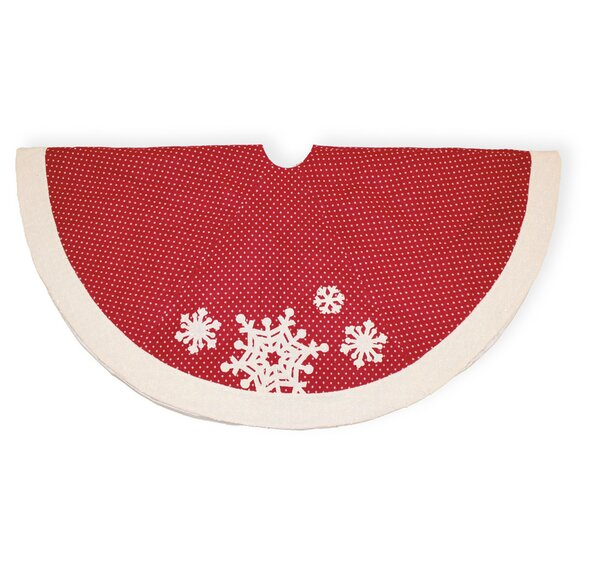56 Polka Dots Snowflake Tree Skirt by The Holiday