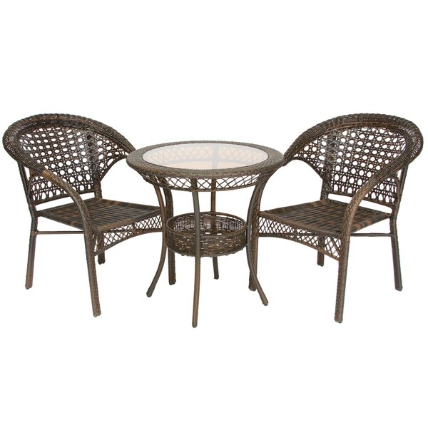 Melia 3 Piece Wicker Bistro Set by Bay Isle Home