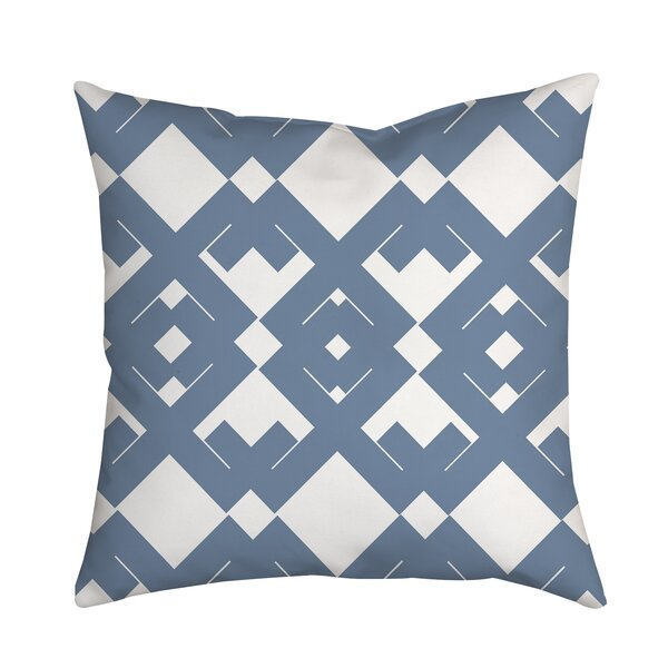Coastal Diamanté Geometric Throw Pillow by Positively Home