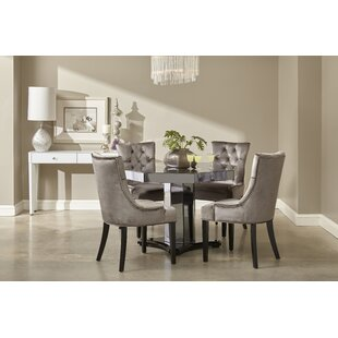 Sophie mirrored dining table wayfair brocklesby smoked mirrored octagon dining set watchthetrailerfo