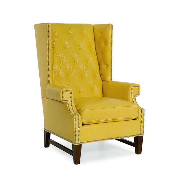 Gavin Leather Wingback Chair by CR Laine