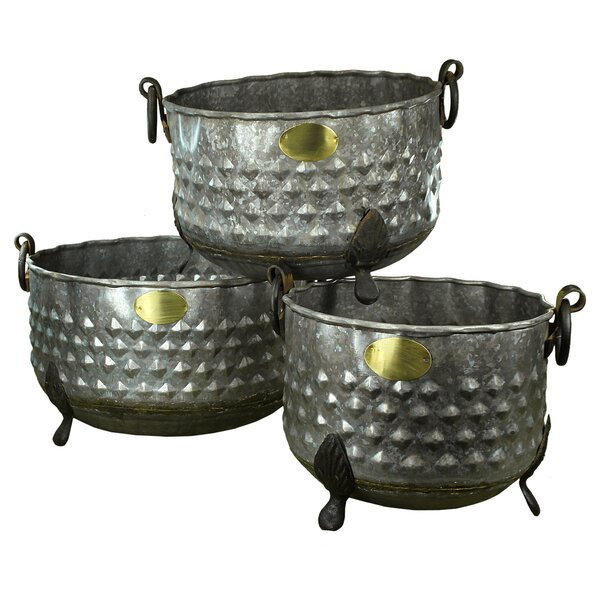 Jazlyn Round 3 Piece Pot Planter Set by August Grove