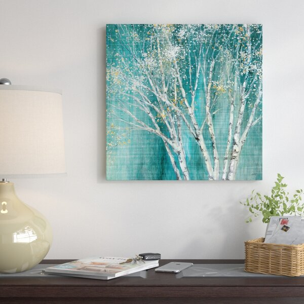 Blue Birch Framed on Canvas by Red Barrel Studio