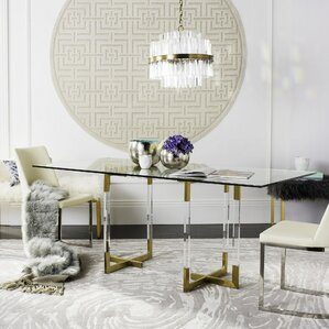 Custis Glass Dining Table by Brayden Studio