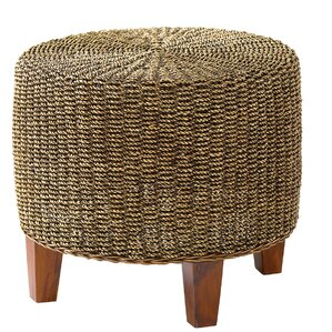 Round Seagrass End Table by Ib..