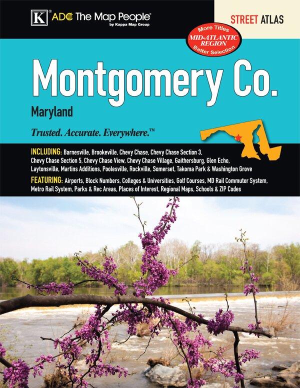 Universal Map Montgomery County Maryland Atlas Wayfair