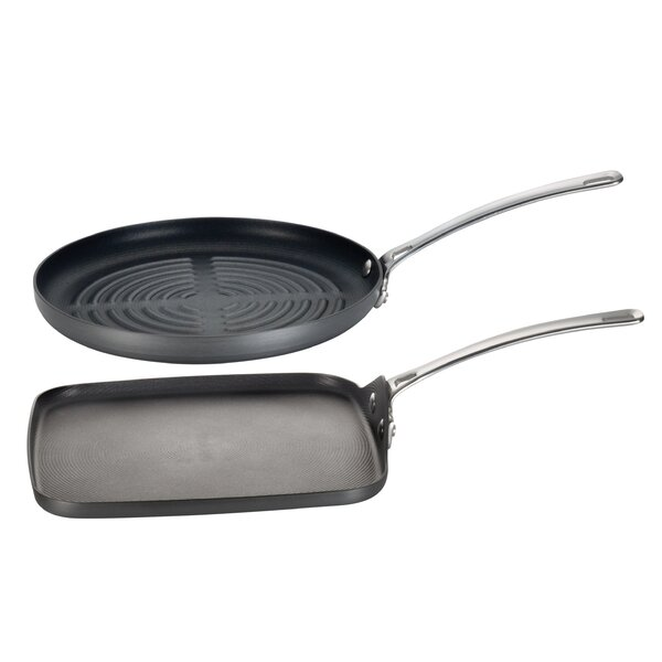 Genesis 2-Piece Non-Stick Grill Pan Set by Circulon