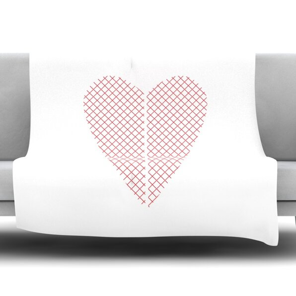 Cross My Heart by Belinda Gillies Fleece Throw Blanket by East Urban Home