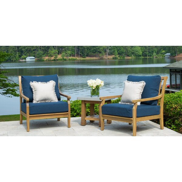 Vonore 3 Piece Teak Seating Group with Sunbrella Cushions