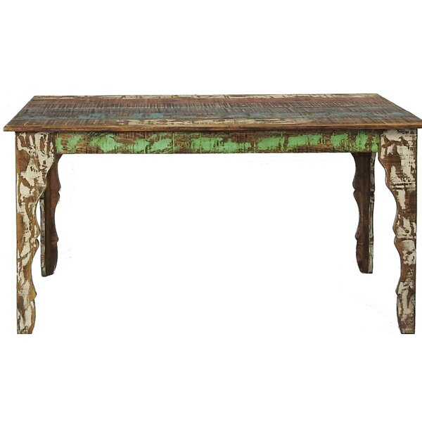 Freelon Solid Wood Dining Table by Millwood Pines Millwood Pines