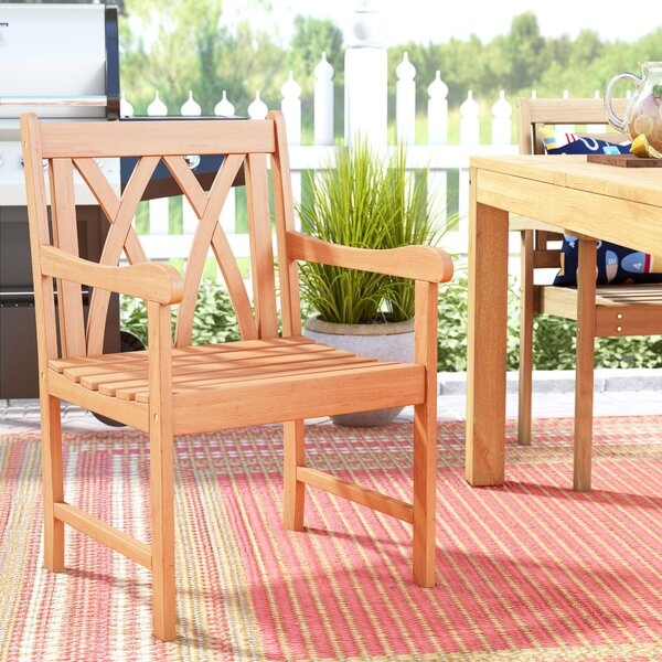 Amabel Teak Patio Dining Chair by Beachcrest Home