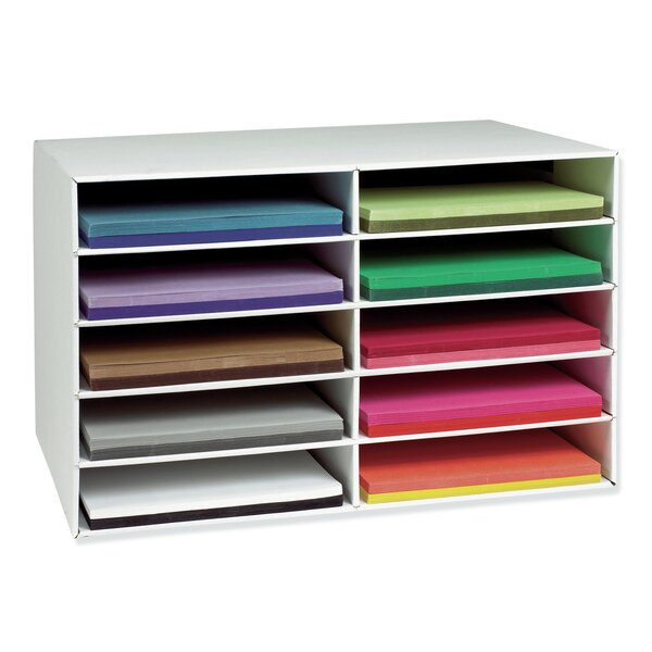 Construction Paper Stackable 10 Compartment Shelving Unit by Pacon Corporation