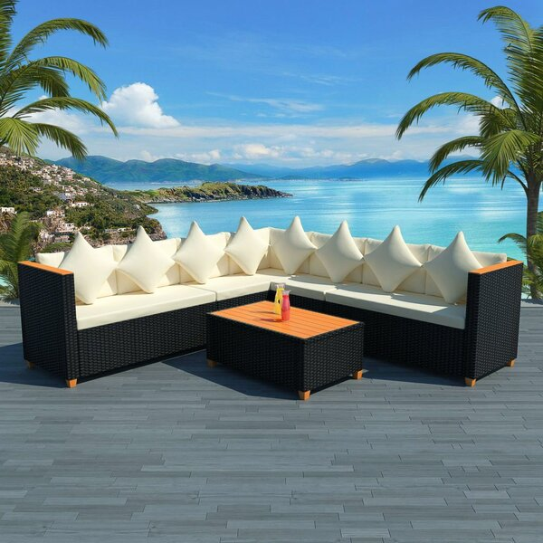 Verwood Garden 5 Piece Sectional Seating Group with Cushions by Ivy Bronx