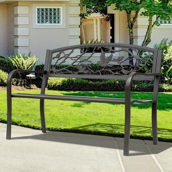 Madeline Vintage Bird Cast Iron Garden Bench by Charlton Home