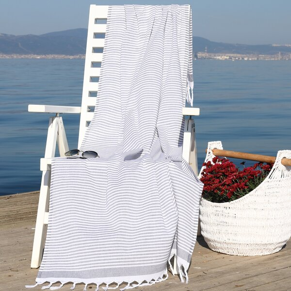Tolman Soft Pestemal Turkish Cotton Beach Towel by Mistana
