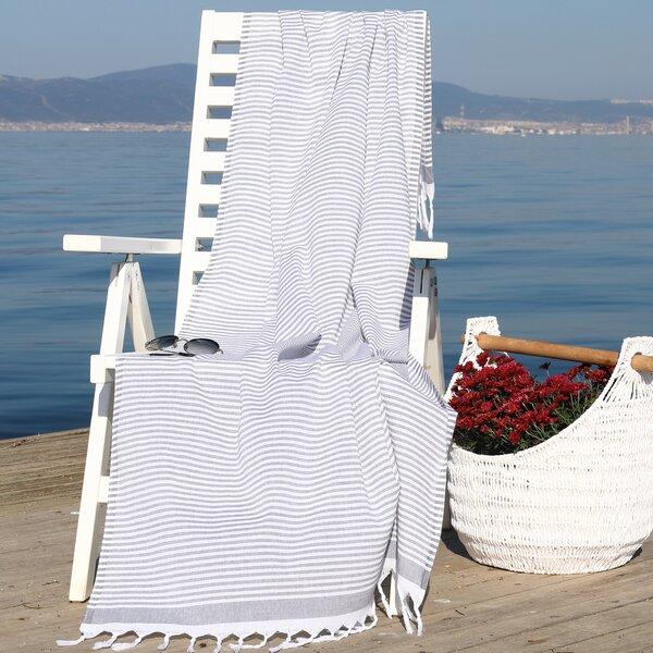 Tolman Soft Pestemal Turkish Cotton Beach Towel by