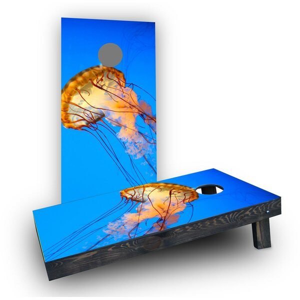 Jelly Fish Cornhole Boards (Set of 2) by Custom Cornhole Boards