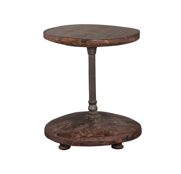 Darold Cart Wheel End Table by Bloomsbury Market