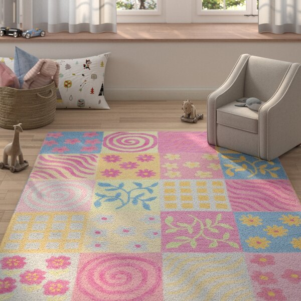 Claro Tufted Pink Area Rug by Harriet Bee