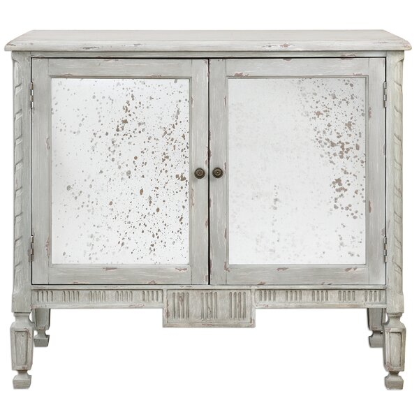 Eilis 2 Door Mirrored Accent Cabinet by Gracie Oaks Gracie Oaks