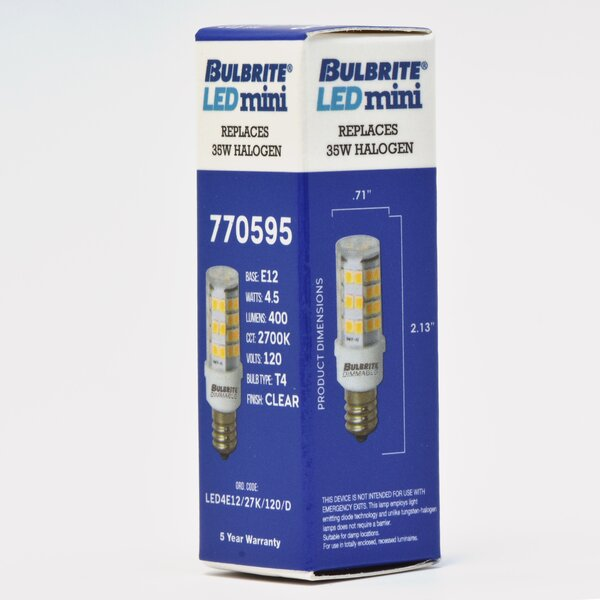 5W Dimmable LED Light Bulb (Set of 2) by Bulbrite Industries