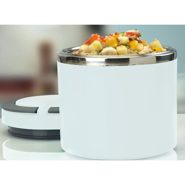 Round Twist Stainless Steel Food Storage Container by Rebrilliant