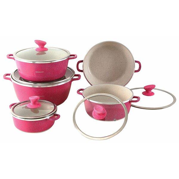 Seemann 10 Piece Non-Stick Cookware Set by Major-Q