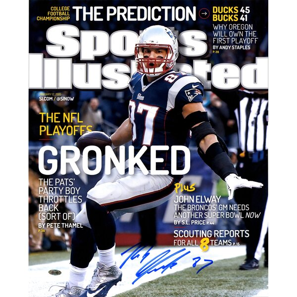 Rob Gronkowski Signed Sports Illustrated Cover-January 12, 2015 Limited to 49 Graphic Art by Steiner Sports