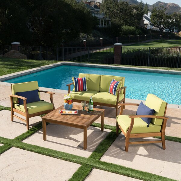 Antonia 4 Piece Sofa Set with Cushions by Mistana