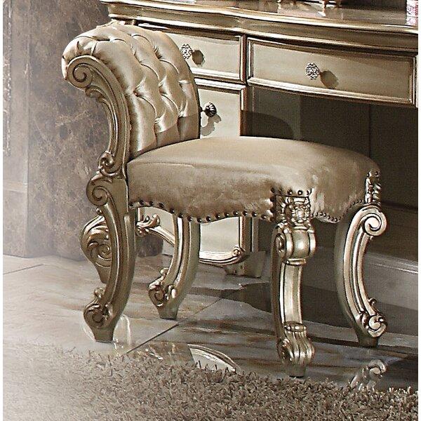 Welles Vanity Stool by Astoria Grand