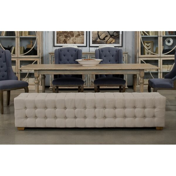 Berrian Long Tufted Upholstered Bench by Canora Grey