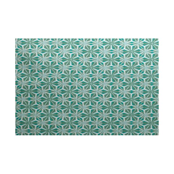Viet Flat Woven Green Indoor/Outdoor Area Rug by Bloomsbury Market