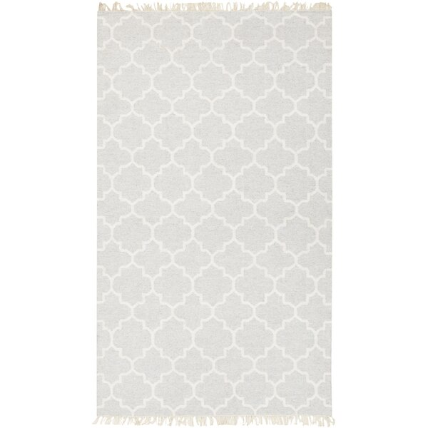 Palladio Hand-Woven Wool Light Gray Area Rug by Darby Home Co
