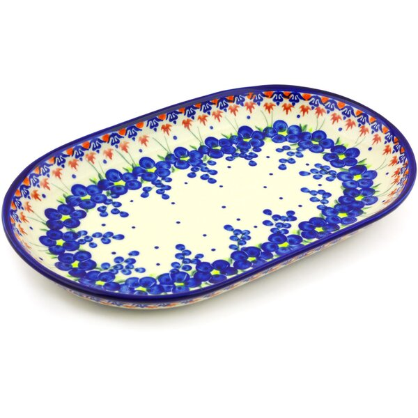 Polish Pottery 13 Oval Platter by Polmedia