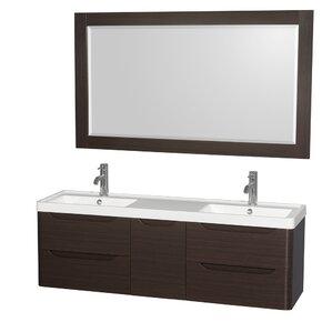 narrow depth bathroom vanity. Murano 60  Double Bathroom Vanity with Mirror Narrow Depth Wayfair