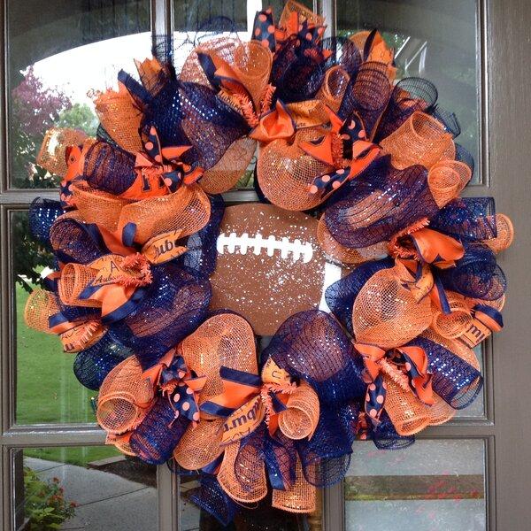 Auburn Tigers Collegiate 26 Wreath by Flora Decor
