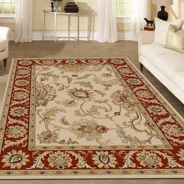 Weisgerber Ivory/Brick Area Rug by Astoria Grand