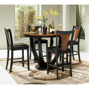 Rhem 5 Piece Counter Height Dining Set By World Menagerie