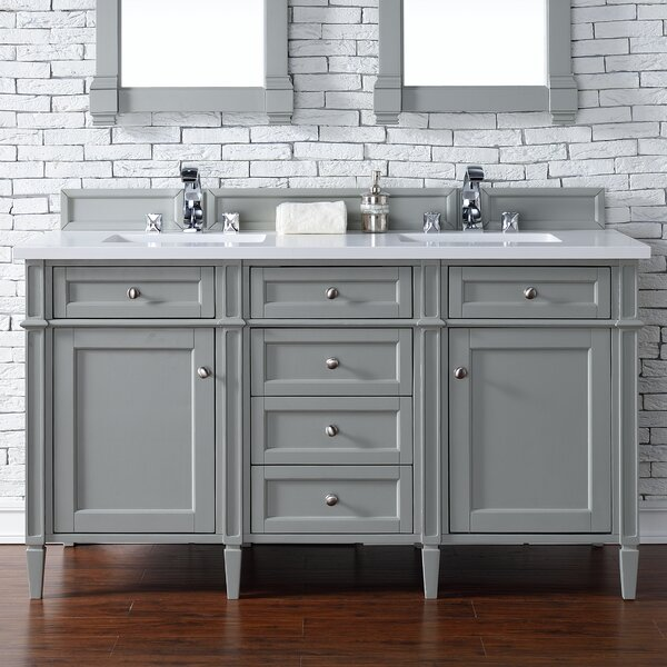 Deleon 60 Double Urban Gray Bathroom Vanity Set by Darby Home Co