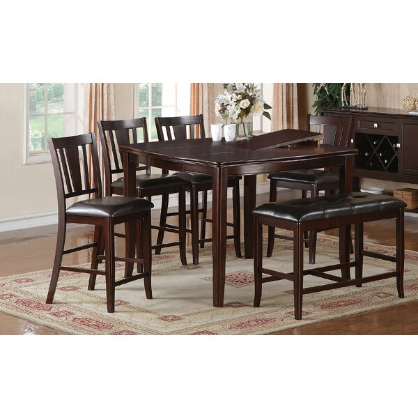 Kaneshiro 6 Piece Counter Height Dining Set by Alcott Hill