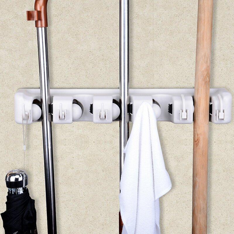 Merveilleux Space Saving Mop And Broom Hanging Organizer