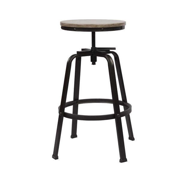 Mullings Adjustable Height Swivel Bar Stool by Williston Forge
