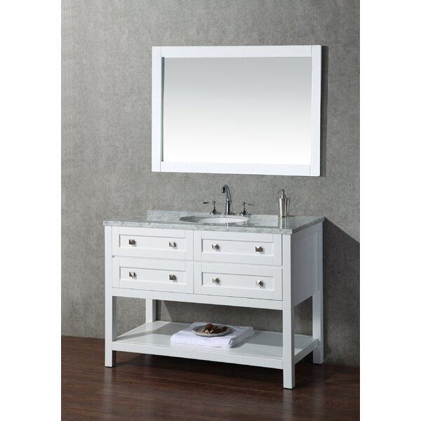 Whaley 48 Single Sink Bathroom Vanity Set with Mirror by Brayden Studio