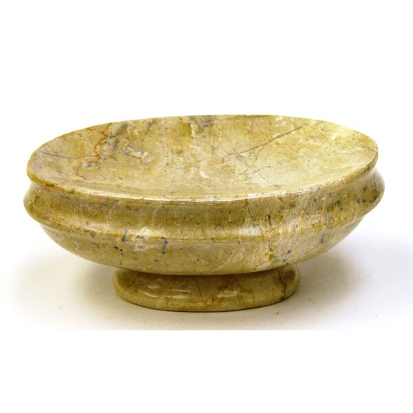Sahara Beige Marble Soap Dish by Nature Home Decor