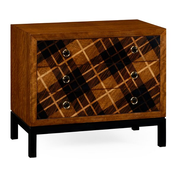 Low 3 Drawer Accent Chest by Jonathan Charles Fine Furniture