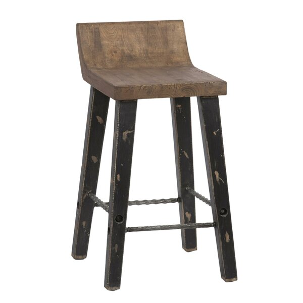 Anaya Low Back Wooden Bar Stool by Loon Peak